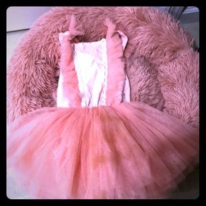 Girls tutu dress size 2-sleeveless peach
